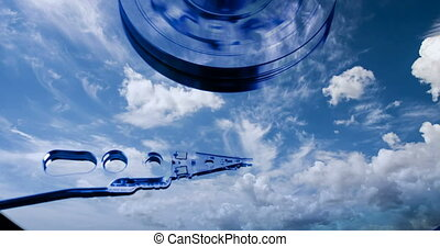 cinemagraph, Hard disk drive with reflected in it the...