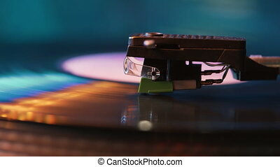 Cinemagraph loop vinyl record player turntable with its ...