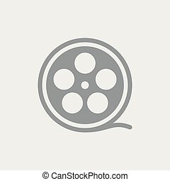 Cinematic film - Flat and isolated vector eps illustration...