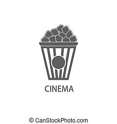 Popcorn vector icon.