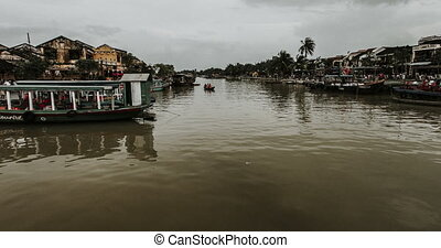 cinematic timelapse in Hoi An .Touristic Vietnam - cinematic...