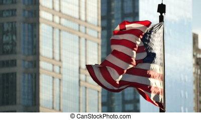 Cinematic United States Flag Waving