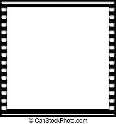 cinematografía, todavía, película, marco