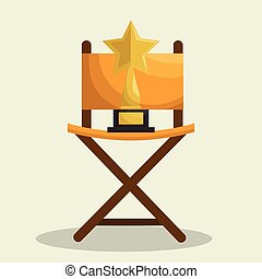 Cinematographic entertainment isolated icons vector illustration design