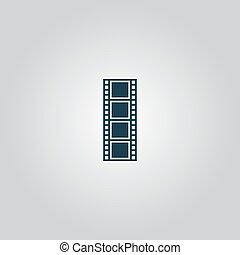 cinematographic film. Flat web icon or sign isolated on grey background. Collection modern trend concept design style vector illustration symbol