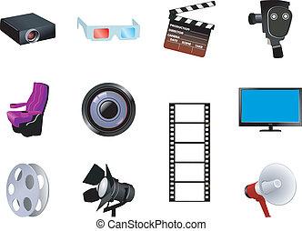 cinematographic, jogo, objetos