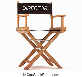 Cinematography: directors chair on white - Cinematography: ...