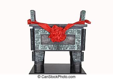 cinese, anticaglia, bronzo