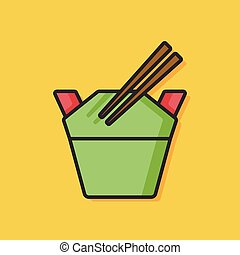 cinese cibo, icona