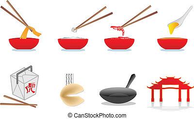 cinese cibo, illustrazione