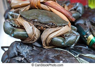 cinese, peloso, crab.