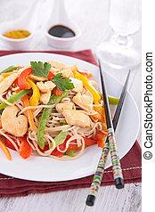 cinese, piatto, pietanza