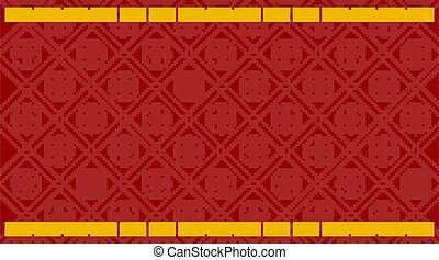 cinese, sagoma, modello, sfondo rosso