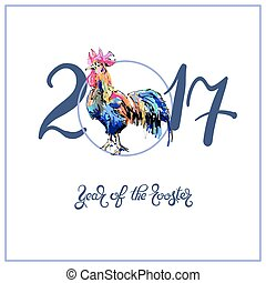 cinese, segni, wi, disegno, anno, nuovo, zodiaco, originale...