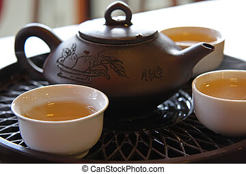 cinese, servizio tè