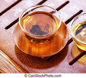 cinese, tè, .traditional, cerimonia