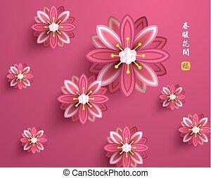 cinese, vettore, orientale, anno, nuovo, felice
