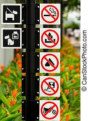 cingapura, roadsigns