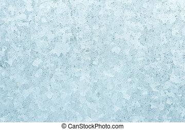 Cink Steel metal texture background in grey blue colors.