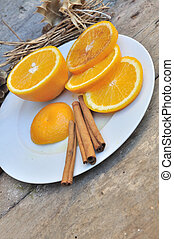 cinnamon and orange