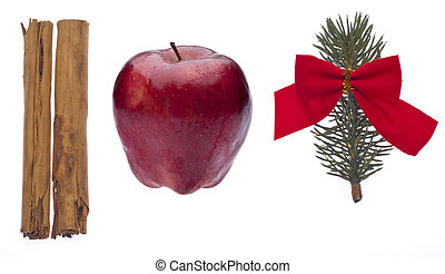 Cinnamon, Apple and Pine Branch for the Holidays