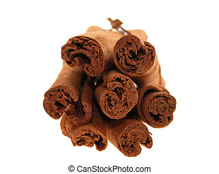 Cinnamon Bundle - Close up shot of a tied stack of cinnamon...