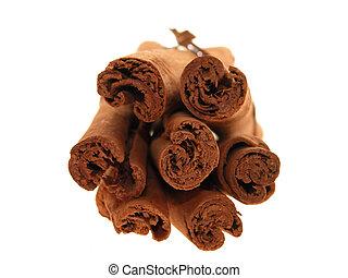 Cinnamon Bundle - Close up shot of a tied stack of cinnamon...