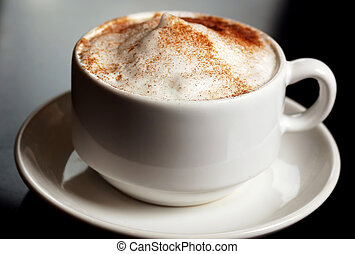 Cinnamon Coffee - Cup of coffee topped with cinnamon