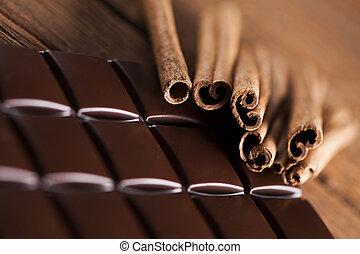 Cinnamon, Dark chocolate with candy sweet