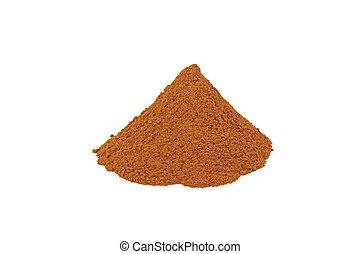 cinnamon ground isolated on white background
