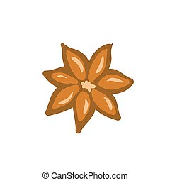Cinnamon. Isolated icons on white background