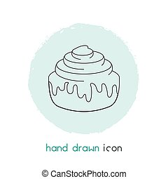 Cinnamon roll icon line element. Vector illustration of cinnamon roll icon line isolated on clean background for your web mobile app logo design.