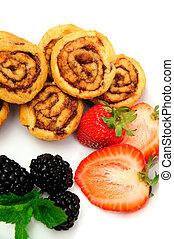 Cinnamon Rolls And Berries