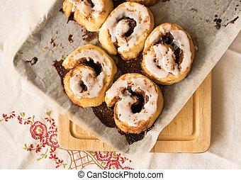 Cinnamon scrolls freshly baked
