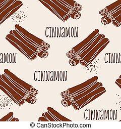 Cinnamon seamless vector pattern