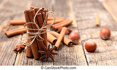 cinnamon stick and anise
