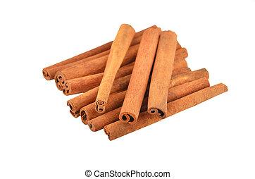 Cinnamon stick (canella), isolated on white background