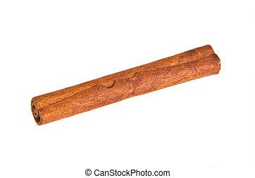 cinnamon stick on a white background