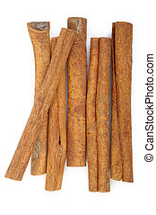 cinnamon stick spice isolated on white background