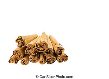 Cinnamon Stick - A group of dried cinnamon stick.