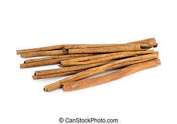 Cinnamon stick isolate on white background