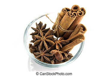 cinnamon sticks and anise stars