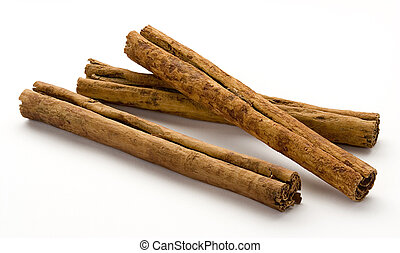 Cinnamon Sticks isolated on a white background