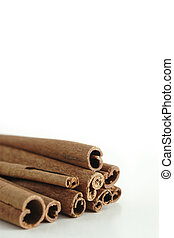 Cinnamon Sticks with room for copy, shallow DOF.