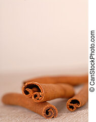 Cinnamon sticks with shallow depth of field