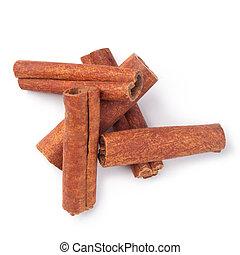 cinnamon - Cinnamon sticks isolated on white background