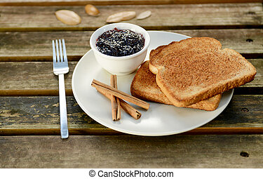 cinnamon toast with jam