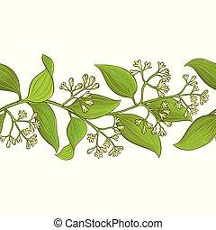 cinnamon vector pattern - cinnamon branches vector pattern...