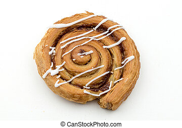 Cinnamon whirl - Isolated image of a Cinnamon Whirl pastry