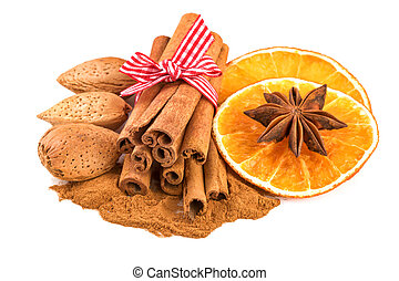 Cinnamon with Orange Slices and Anise